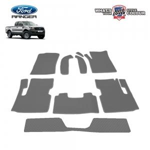 พรมกระดุม Super Save ชุด Full จำนวน 10 ชิ้น Ford Ranger Super Cab 2012-2018