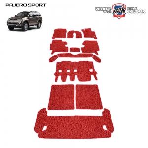 พรมดักฝุ่นไวนิล รถ Mitsubishi Pajero Sport ปี 2008-2015 ชุดปูเต็มคัน จำนวน 14 ชิ้น