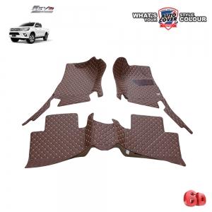 พรมเข้ารูป 6 D Leather Car Mat จำนวน 3 ชิ้น TOYOTA REVO CAB ปี 2015-2019