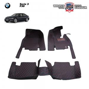 พรมเข้ารูป 6 D Leather Car Mat จำนวน 3 ชิ้น BMW Serie 3 F30