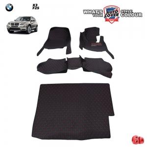 พรมรถยนต์ 6D Leather Car Mat จำนวน 4 ชิ้น BMW X3 (F25)