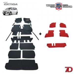 พรมรถยนต์ 7 D Anti Dust รถ SUZUKI ERTIGA ปี 2013-2018 ชุดเต็มคัน จำนวน 9+5 ชิ้น
