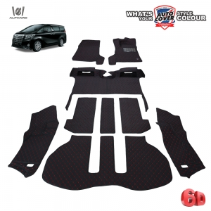 พรมรถยนต์ 6D Leather Car Mat ชุดเต็มคัน TOYOTA ALL NEW ALPHARD