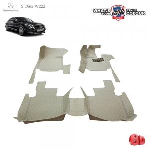 พรมรถยนต์ 6 D รถ MERCEDES BENZ S CLASS รหัสตัวถัง W222 จำนวน 3 ชิ้น