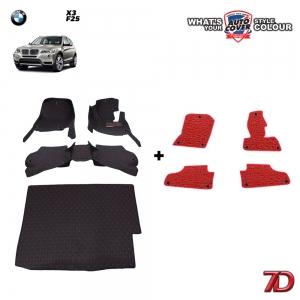 พรมรถยนต์ 7 D Anti Dust รถ BMW X3 (F25) ชุดเต็มคัน รวมแผ่นท้าย จำนวน 4 + 4 ชิ้น