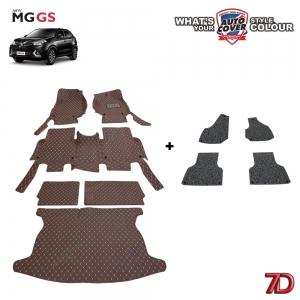 พรมรถยนต์ 7D Anti Dust รถรุ่น MG GS ชุดเต็มคัน จำนวน 6+4 ชิ้น รวมแผ่นท้ายและหลังพนักพิง