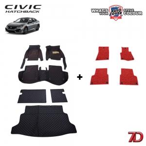 พรมรถยนต์ 7 D Anti Dust รถ HONDA ALL NEW CIVIC HATCHBACK (FK) ปี 2017-2020 ชุดเต็มคัน จำนวน 6+4 ชิ้น