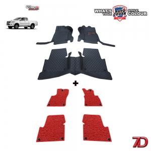 พรมรถยนต์ 7 D Anti Dust รถ TOYOTA VIGO SMART CAB ปี 2005-2015 จำนวน 3+4 ชิ้น