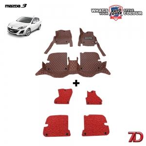 พรมรถยนต์ 7 D Anti Dust รถ MAZDA 3 ปี 2011-2014 (BL) รุ่น 4 และ 5 ปรตู ชุดภายในเก๋ง จำนวน 3+4 ชิ้น