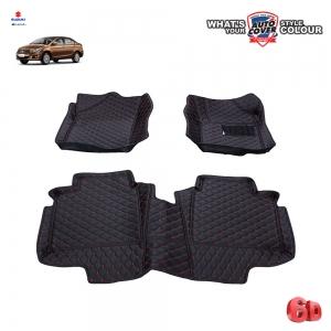 พรมรถยนต์ 6 D Leather Car Mat จำนวน 3 ชิ้น SUZUKI CIAZ 2015-2020