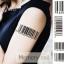 YM-K001 สติ๊กเกอร์สักแฟชั่น sticker tattoo ลายบาร์โค๊ต 15.5x10.8 cm thumbnail 10