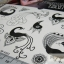 YM-K083 สติ๊กเกอร์สักแฟชั่น sticker tattoo ลายนกยุง โบ15.5x10.8 cm thumbnail 10