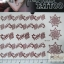 YM-K104 สติ๊กเกอร์สักแฟชั่น sticker tattoo ลายดอก 15.5x10.8 cm thumbnail 1