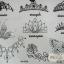 YM-K036 สติ๊กเกอร์สักแฟชั่น sticker tattoo ลายมงกุฎจุด 15.5x10.8 cm thumbnail 1