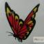 YM-K114 สติ๊กเกอร์สักแฟชั่น sticker tattoo ลายผีเสื้อ 15.5x10.8 cm thumbnail 8