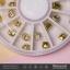 เพชรตูดแหลม หุัมตูดโลหะสีทอง กลอมกลม thumbnail 3