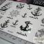 YM-K023 สติ๊กเกอร์สักแฟชั่น sticker tattoo ลายสมอเรือ15.5x10.8 cm thumbnail 17