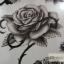 YM-X240 สติ๊กเกอร์ลายสัก tattoo ลายดอกไม้ 18 x 7 cm thumbnail 2