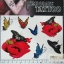 YM-K114 สติ๊กเกอร์สักแฟชั่น sticker tattoo ลายผีเสื้อ 15.5x10.8 cm thumbnail 1