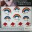 YM-K119 สติ๊กเกอร์สักแฟชั่น sticker tattoo ลายสายรุ้ง 15.5x10.8 cm thumbnail 1