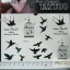 YM-K123 สติ๊กเกอร์สักแฟชั่น sticker tattoo ลายนก 15.5x10.8 cm thumbnail 1