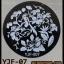 แผ่นปั๊มลายเล็บ รหัส YJF ทรงกลม thumbnail 3