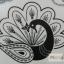 YM-K083 สติ๊กเกอร์สักแฟชั่น sticker tattoo ลายนกยุง โบ15.5x10.8 cm thumbnail 5