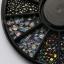 เม็ดพลาสติกทรงหิน คละสี เงิน ทอง รุ้ง กล่องกลมดำ thumbnail 4