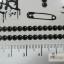 YM-K075 สติ๊กเกอร์สักแฟชั่น sticker tattoo ลายซิบ ไม้กางเขน 15.5x10.8 cm thumbnail 3