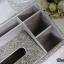 กล่องใส่ทิชชู่เพชร มีช่องใส่ของด้านข้าง สีขาวผสมสีรุ้ง กว้าง18 ยาว28 สูง14 เซนติเมตร thumbnail 8