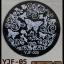 แผ่นปั๊มลายเล็บ รหัส YJF ทรงกลม thumbnail 2