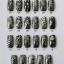 ฟอยล์ติดเล็บ ลายสีเงินดำ รหัส SD Nails foils เลือกสีด้านใน ขนาด 4X40 เซน thumbnail 24