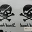 YM-K028 สติ๊กเกอร์สักแฟชั่น sticker tattoo ลายกระโหลก 15.5x10.8 cm thumbnail 9