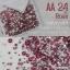 เพชรชวาAA สีชมพูเข้ม Rose รหัส AA-24 คละขนาด ss3 ถึง ss30 ปริมาณประมาณ 1300-1500เม็ด thumbnail 1