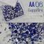 เพชรชวาAA สีน้ำเงิน Sapphire รหัส AA-06 คละขนาด ss3 ถึง ss30 ปริมาณประมาณ 1300-1500เม็ด thumbnail 1