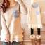 Pre-เสื้อกันหนาวไหมพรมน่ารักสไตล์เกาหลี มีไซด์ใหญ่ M-XXXL thumbnail 1