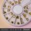 เพชรตูดแหลม หุัมตูดโลหะสีทอง กลอมกลม thumbnail 2