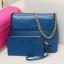 กระเป๋าหนังสายโซ่ สีน้ำเงิน, สีเบจ thumbnail 2