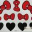 YM-K117 สติ๊กเกอร์สักแฟชั่น sticker tattoo ลายโบแดง 15.5x10.8 cm thumbnail 2