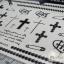 YM-K075 สติ๊กเกอร์สักแฟชั่น sticker tattoo ลายซิบ ไม้กางเขน 15.5x10.8 cm thumbnail 10