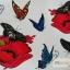 YM-K114 สติ๊กเกอร์สักแฟชั่น sticker tattoo ลายผีเสื้อ 15.5x10.8 cm thumbnail 2