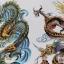 MQS สติ๊กเกอร์แทททูขนาดใหญ่ 21.5 x 20 cm คลิกเลือกลายด้านใน thumbnail 24