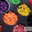 หมุดพลาสติก สีเหลี่ยม 3 มิล ชุดใหญ่ คละสี thumbnail 2