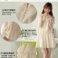 พร้อมส่ง-เดรสสีครีมสไตล์เกาหลี thumbnail 4