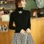 Pre-เสื้อคอเต่าแขนยาวสไตล์เกาหลี มีสีดำ ขาว เทา thumbnail 1