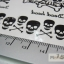 YM-K028 สติ๊กเกอร์สักแฟชั่น sticker tattoo ลายกระโหลก 15.5x10.8 cm thumbnail 4