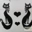 YM-K026 สติ๊กเกอร์สักแฟชั่น sticker tattoo ลายแมว15.5x10.8 cm thumbnail 7