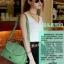 พร้อมส่ง-กระเป๋าสะพายยาวสีเขียว thumbnail 3