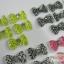 โบว์พลาสติก แบบกล่อง ลายเสือ,จุด 60 ชิ้น thumbnail 12