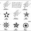 YM-K025 สติ๊กเกอร์สักแฟชั่น sticker tattoo ลายดาว15.5x10.8 cm thumbnail 2